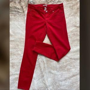 Express Ladies Red Skinny Jeans